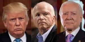 Trump, McCain and Hatch
